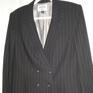 Kasper A.S.L pinstripe pants suit size 12